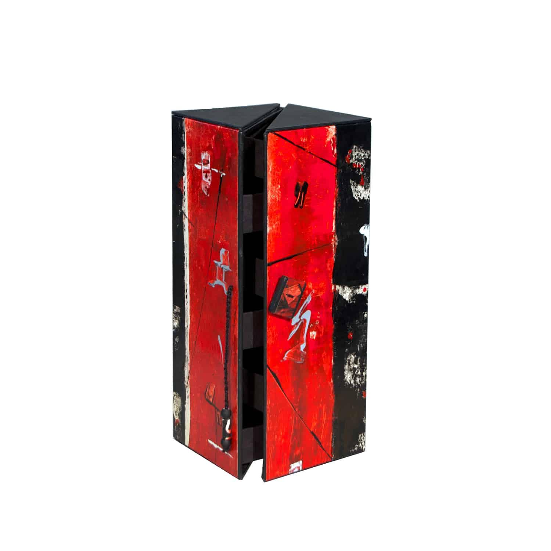 Schmuckturm Rot-Schwarz